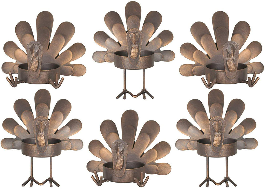 Sets of 3 Turkey Candleholders