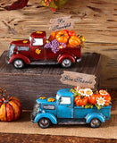 Vintage Lighted Harvest Pickup Trucks