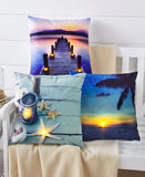Light-Up Coastal Throw Pillows