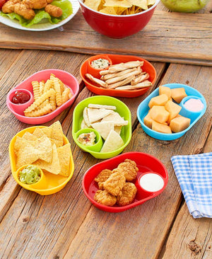 Set of 6 Snack Trays - Colorful Freezer Safe