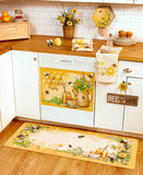 Honey Bee Kitchen Collection Choice of Wall Sign, Dishwasher Magnet, Set of 4 towels, Rug, or Bag Dispenser