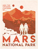"Mars National Park-Tin Sign 16"" W x 12.5"" H"