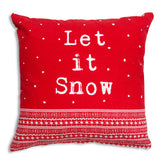 Let it Snow Cotton Throw Pillow