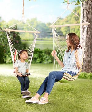 Adult and Child Swing Hammocks or Pillows