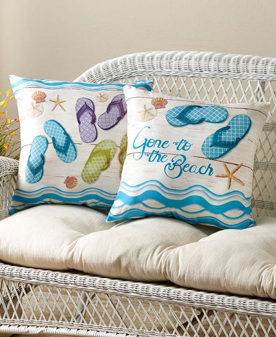 Flip-Flop Accent Pillows