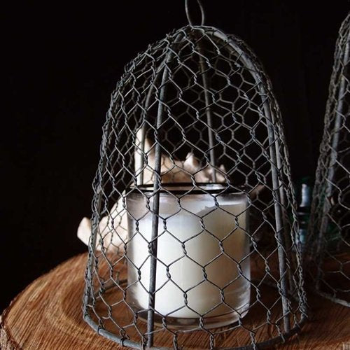 Chicken Wire Cloche, 10 inches tall, Vintage, Rustic Finish