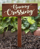 Bunny Crossing Garden Stakes or Sign