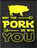 "Pork With You-Tin Sign 16"" W x 12.5"" H"