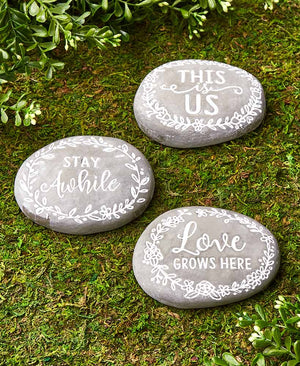 Sets of 3 Word Sentiment Stones