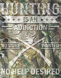 "Hunting Cure-Tin Sign 16"" W x 12.5"" H"