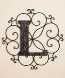 Monogram Wall Hangings Family Pride Personalize Any Space Scrollwork Outer Frame