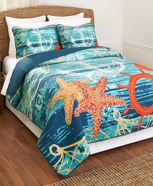 Nautical Quilt or Sham