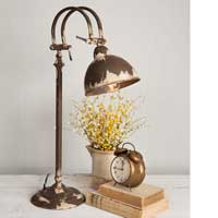 "Hampstead Lamp Adjustable lamp measures about 26""H"