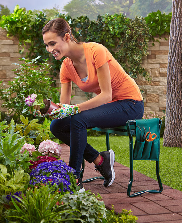 Garden Kneeler Seat with Pouch