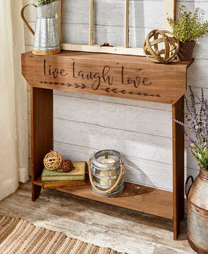 Farmhouse Sentiment Wood Console Tables