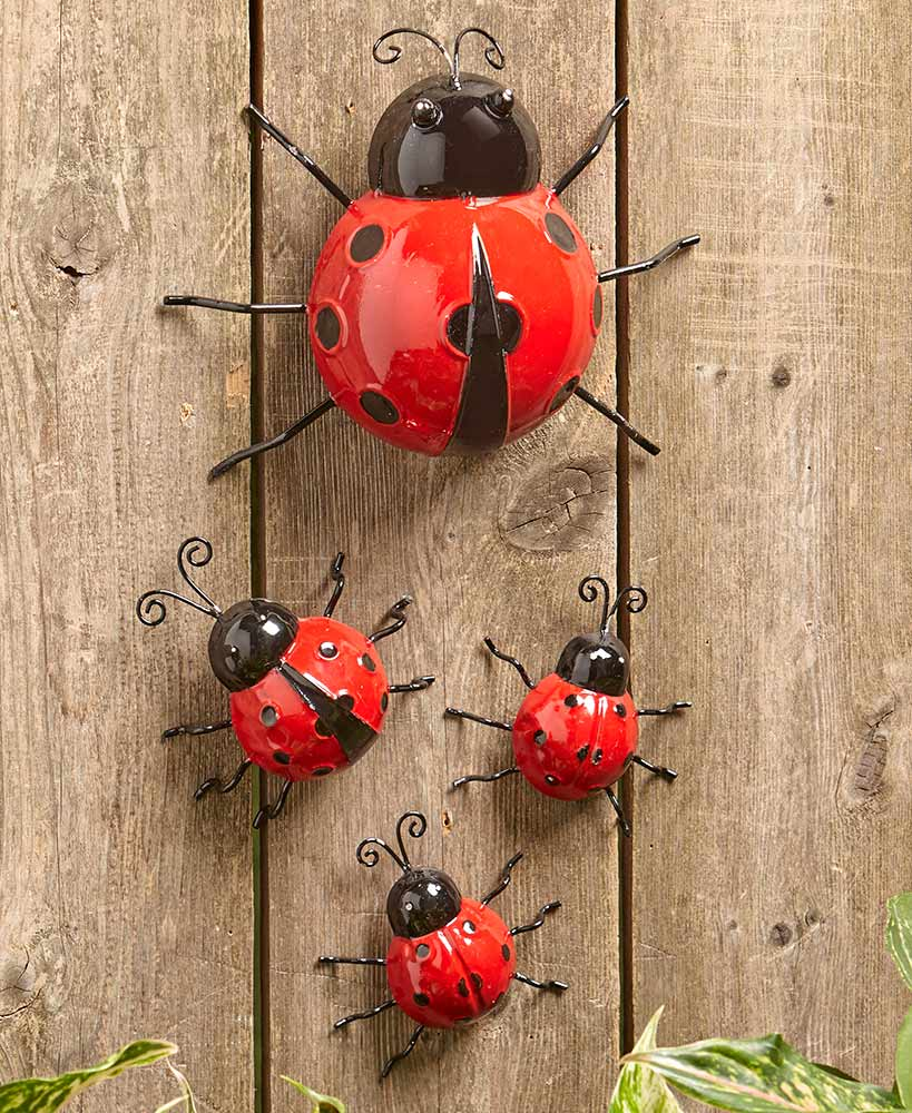 Sets of 4 Metal Garden Bugs