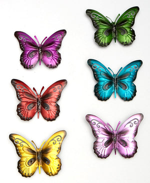 Colorful Solar Butterfly Mobile or 6 Plaques
