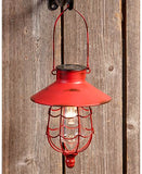 Hanging Solar Lanterns Metal Solar Powered Outdoor Lighting with Rustic Appeal