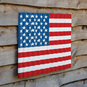 "Corrugated Wave US Flag 32""x27"""