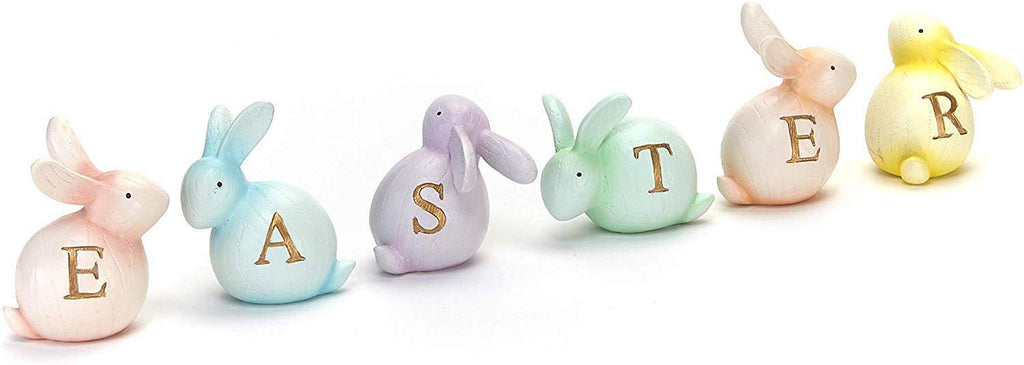 6-Pc. Tabletop Easter Bunny Decor Set