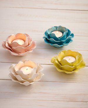 Floral Porcelain Tealight Holders