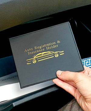 Auto Registration Insurance Wallets Glove Box Organizer Center Console Set of 4