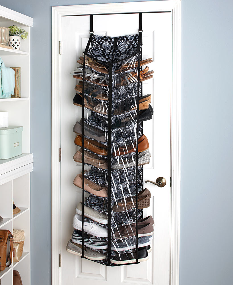 30-Pair Over-the-Door Shoe Storage