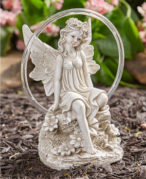 Solar Circle of Light Angel Statues