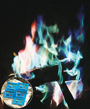 Set of 5 Colorful Fire Packets Smoke Indoor Outdoor Wood Burning