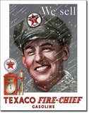 Tin Sign Texaco-Pump Attendant 12.5x16 in