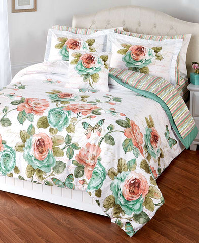 Rose Garden Comforter Ensemble