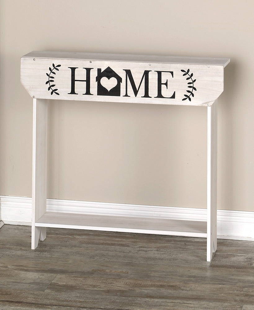Whitewash Farmhouse Sentiment Console Tables