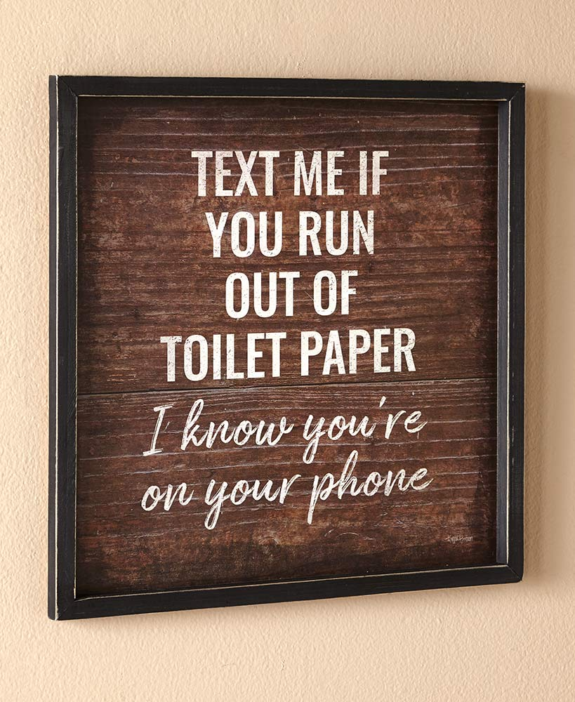 Funny Bathroom Wall Art