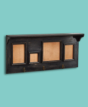 Distressed Photo Frame Shelves