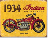 1934 Indian Motorcycles Tin Sign 13 x 16in