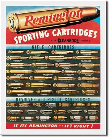 Remington Sporting Cartridges Tin Sign 13 x 16in