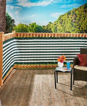 15 Ft Deck & Fence Privacy Screen Striped Polyethylene Netting Deck Railings New