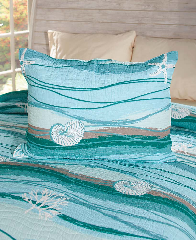 Maui Embroidered Accent Quilt or Sham