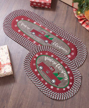 Vintage Christmas Braided Rugs