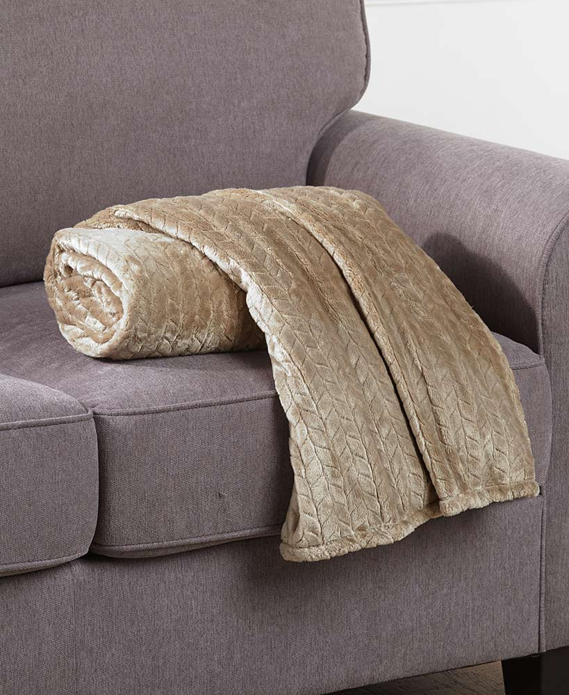 Textured Plush Throws