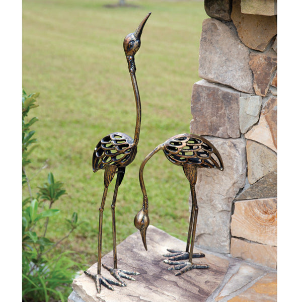 Set of Two Crane Statues
