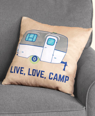 Live Love Camp Jumbo Plush Throw or Accent Pillow