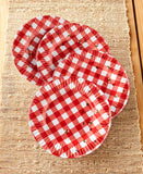 Gingham and Bee Melamine Dinnerware