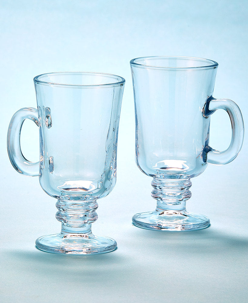 Set of 2 Glass Cider Mugs