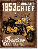 1953 Indian Roadmaster Tin Sign 13 x 16in