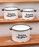 Enamelware Holiday Yard Stakes or Planters Choice of Jesus Is the Reason, Merry and Bright, Welcome, or Set of 3 Planter