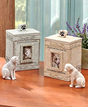 Faithful Angel Pet Memorial Figurines Sentimental Urns Cold Cast Ceramic Shelf