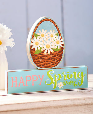 2-Pc. Reversible Block Set Happy Easter Happy Spring