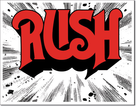 Tin Sign Rush-1974 Cover 12.5x16 in