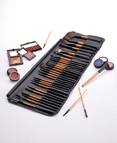 32-Pc. Ultimate Lakeside Collection Makeup Brush Set with Storage Bag Beauty